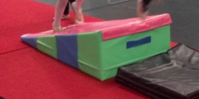 gymnastics cheese folding incline mat for preschool acrobatics