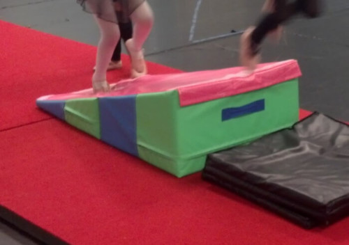 gymnastics cheese folding incline mat for preschool acrobatics